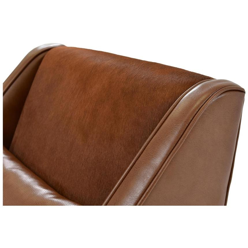 Krava Brown Leather Accent Chair  alternate image, 5 of 5 images.