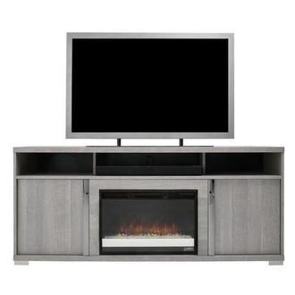 Tivo Gray Electric Fireplace w/Speakers