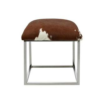 Krava Brown Leather Ottoman