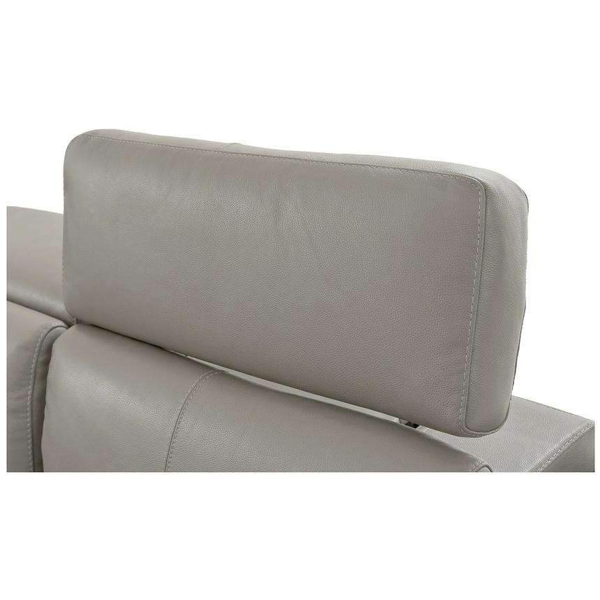 Charlie Light Gray Leather Power Reclining Sectional  alternate image, 8 of 11 images.