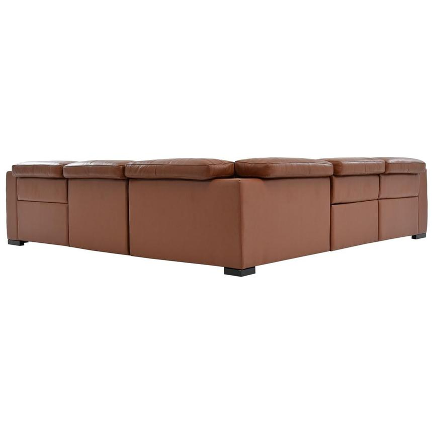 Gian Marco Tan Leather Power Reclining Sectional  alternate image, 4 of 6 images.
