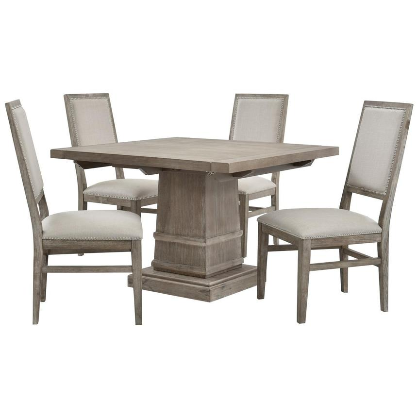 Hudson Gray/Dexter Gray 5-Piece Dining Set  main image, 1 of 16 images.