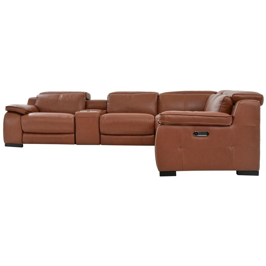 Gian Marco Tan Leather Power Reclining Sectional  alternate image, 4 of 9 images.