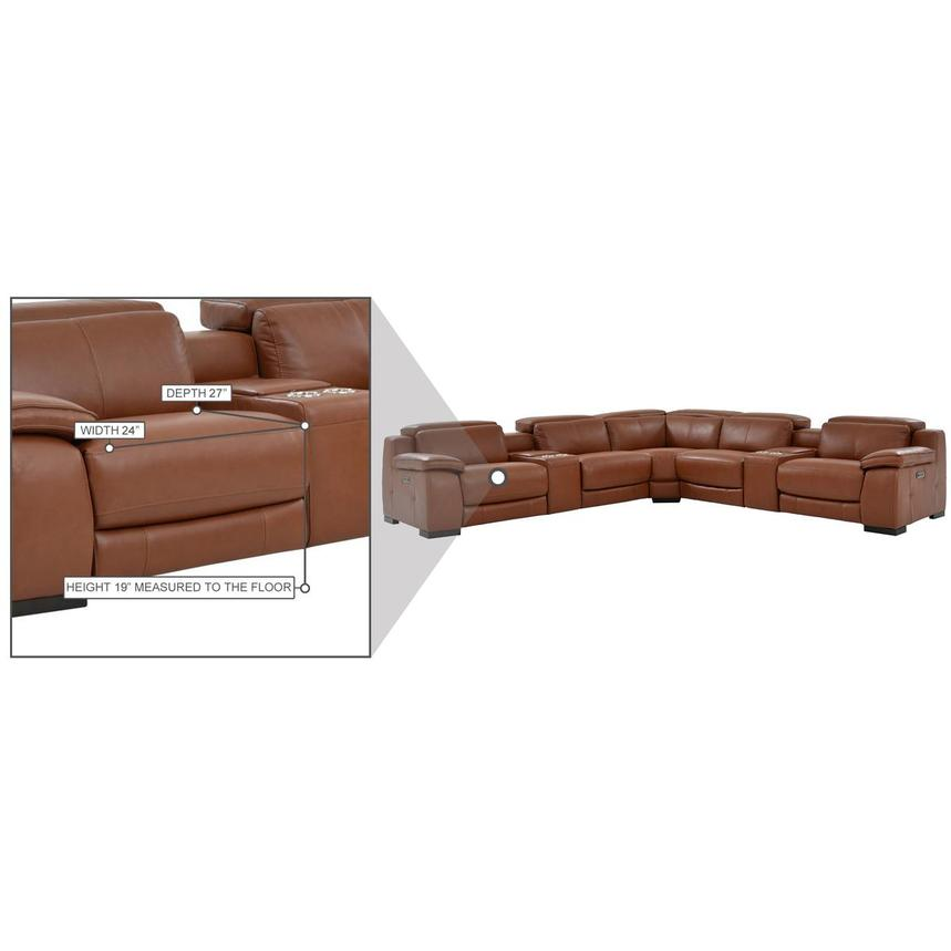 Gian Marco Tan Leather Power Reclining Sectional  alternate image, 10 of 10 images.