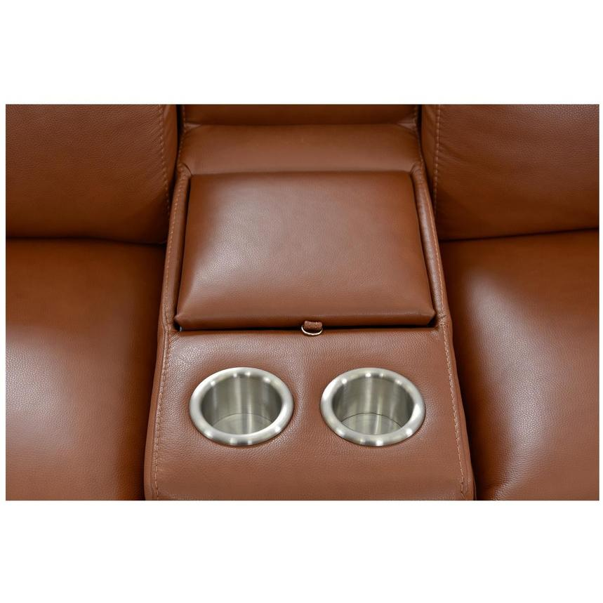 Gian Marco Tan Home Theater Leather Seating  alternate image, 7 of 10 images.