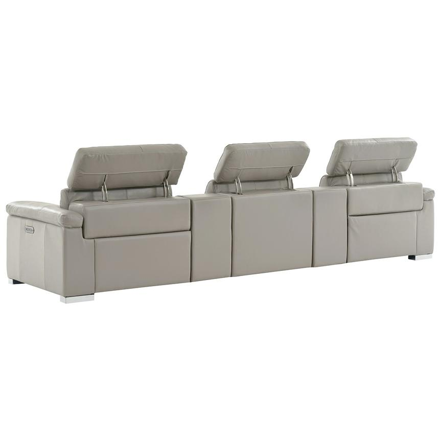 Charlie Light Gray Home Theater Leather Seating  alternate image, 4 of 10 images.