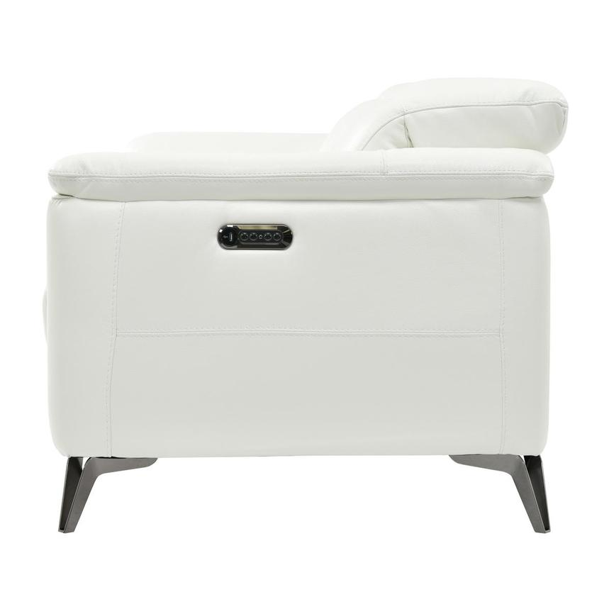 Anabel White Power Motion Leather Loveseat  alternate image, 4 of 8 images.