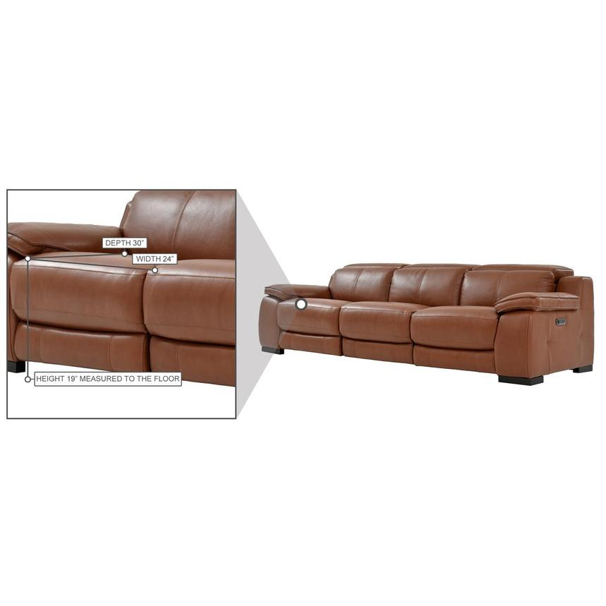 Gian Marco Tan Oversized Leather Sofa  alternate image, 10 of 10 images.