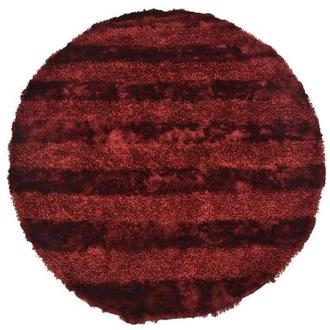 Fusion Red 8' Round Area Rug