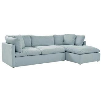 Neapolis Blue Sofa w/Right Chaise