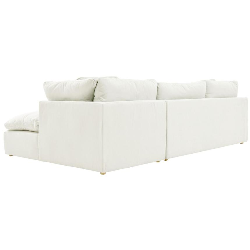 Neapolis White Sofa w/Right Chaise  alternate image, 4 of 5 images.