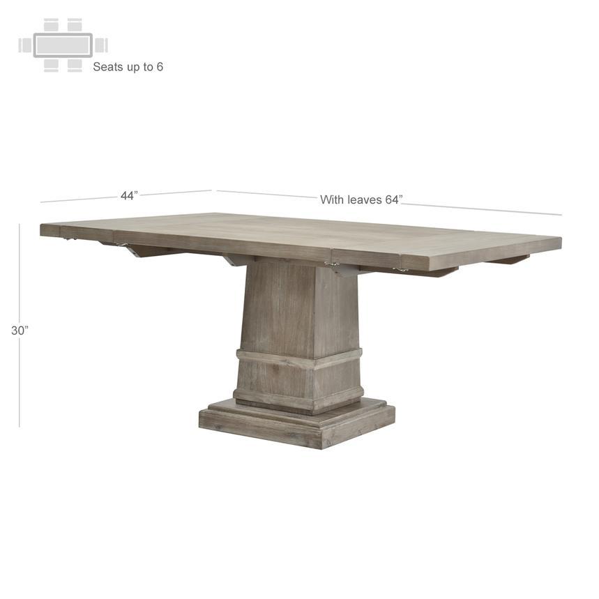 Hudson Gray Extendable Dining Table El Dorado Furniture