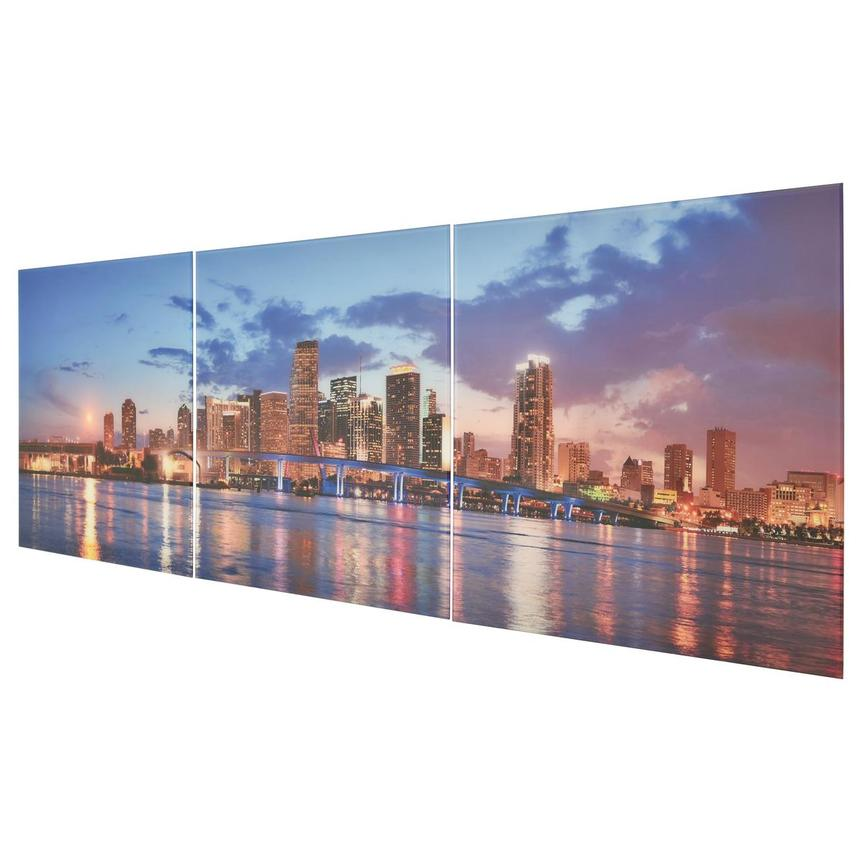 Miami Skyline III Set of 3 Acrylic Wall Art  alternate image, 3 of 5 images.