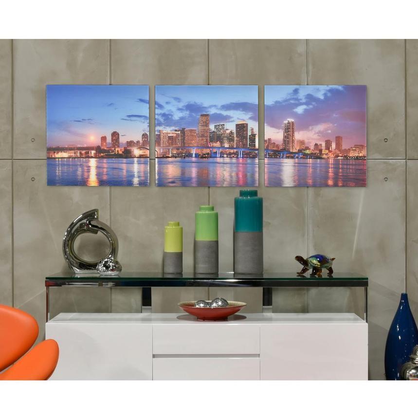 Miami Skyline Iii Set Of 3 Acrylic Wall Art El Dorado Furniture