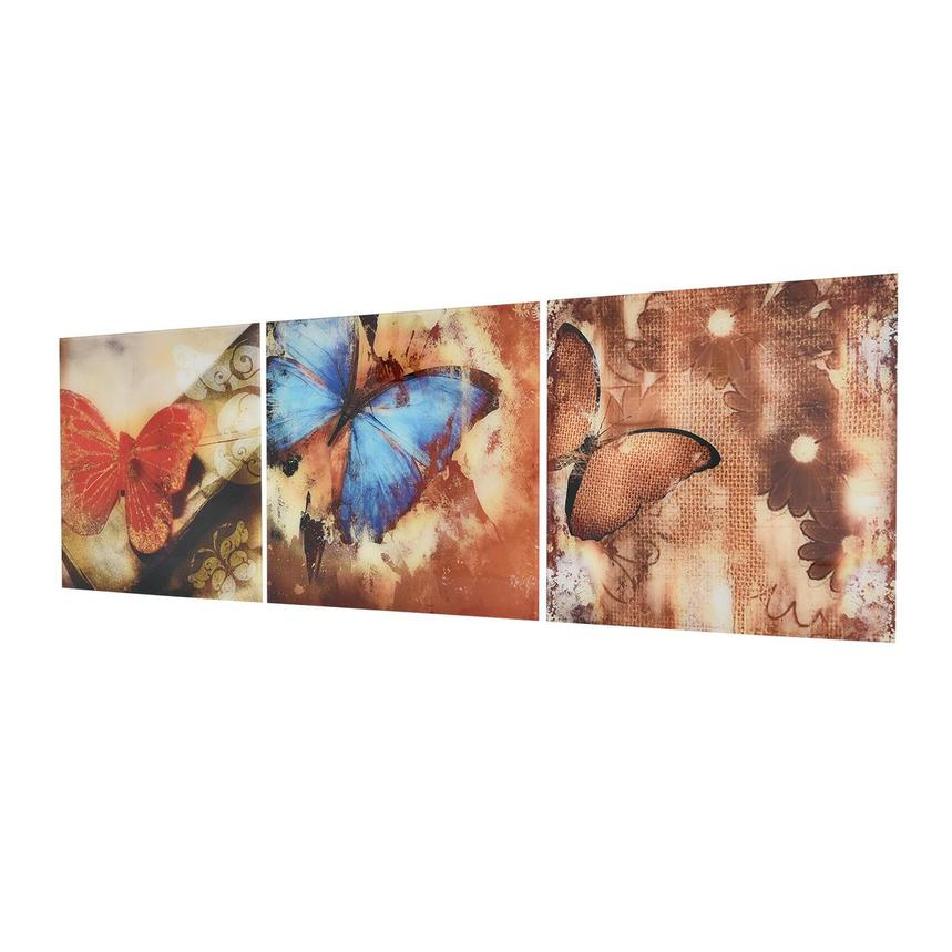 Papillon Set of 3 Acrylic Wall Art  alternate image, 4 of 5 images.