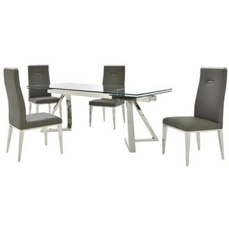 Suri/Hyde I Dark Gray 5-Piece Formal Dining Set