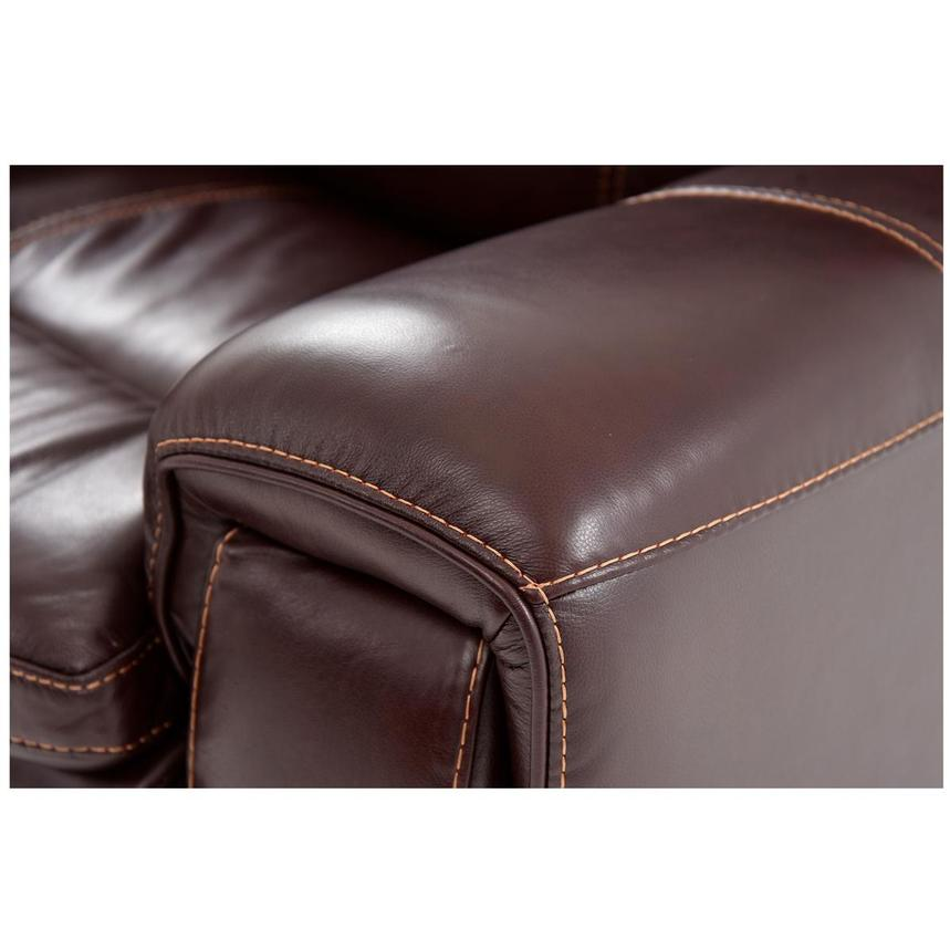 Napa Burgundy Power Motion Leather Sofa w/Right & Left Recliners  alternate image, 5 of 6 images.