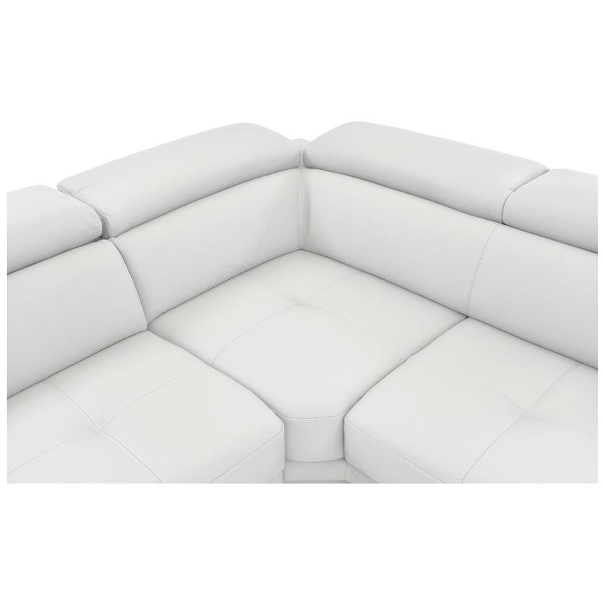 Winner White Leather Sofa w/Right Chaise  alternate image, 5 of 6 images.