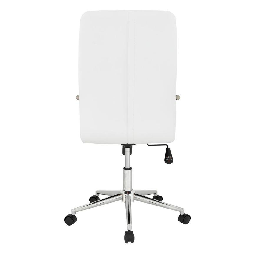 Pivot White High Back Desk Chair  alternate image, 5 of 7 images.