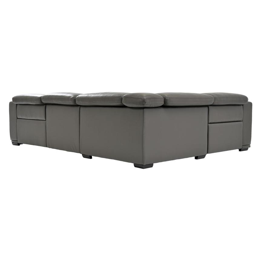 Fabulous Davis 2 0 Dark Gray Leather Power Reclining Sectional Gmtry Best Dining Table And Chair Ideas Images Gmtryco