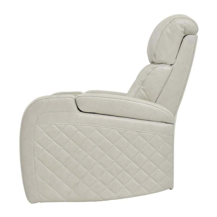 Gio Cream Power Motion Leather Recliner  alternate image, 4 of 9 images.