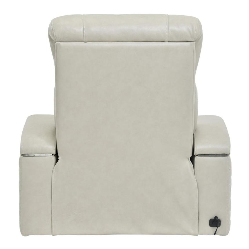 Gio Cream Power Motion Leather Recliner  alternate image, 5 of 9 images.