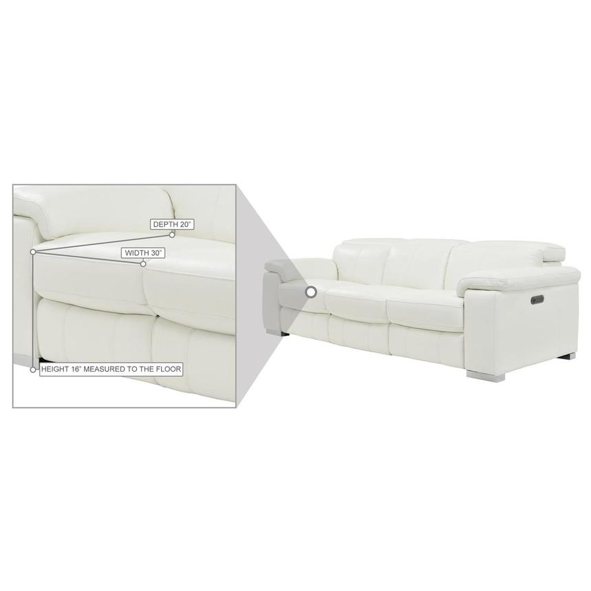 Charlie White Leather Power Reclining Sofa  alternate image, 10 of 10 images.