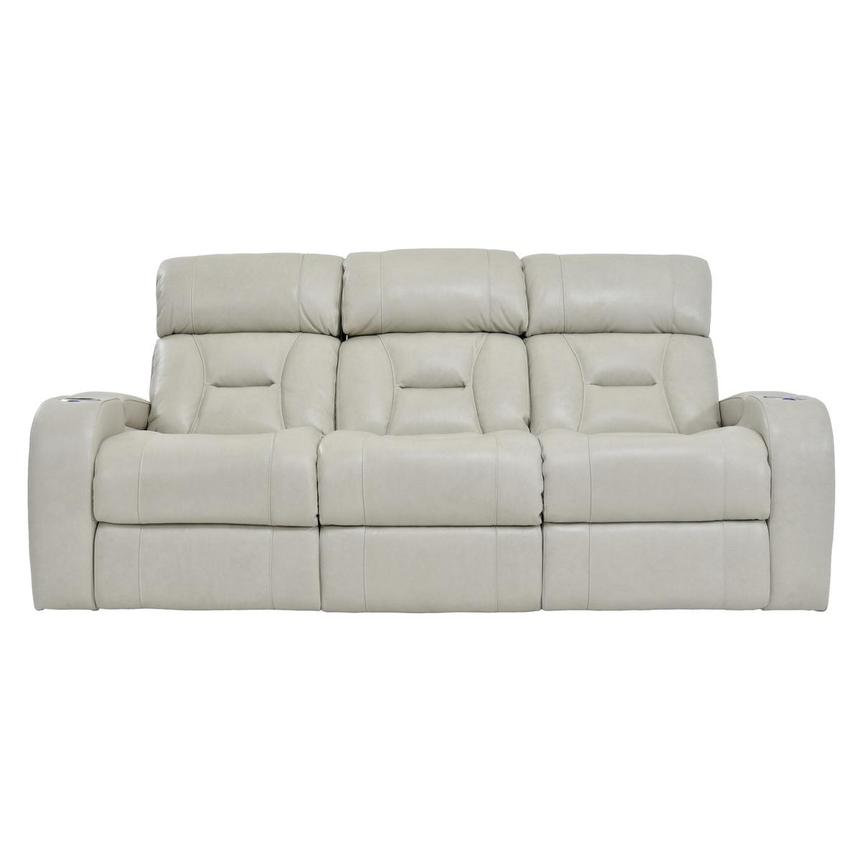 Gio Cream Leather Power Reclining Sofa  main image, 1 of 14 images.