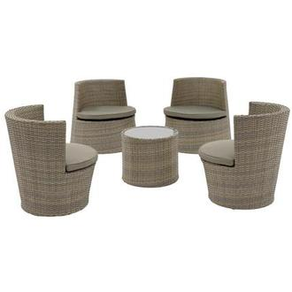 Tower Brown 5-Piece Patio Set (Sold By Set Only)