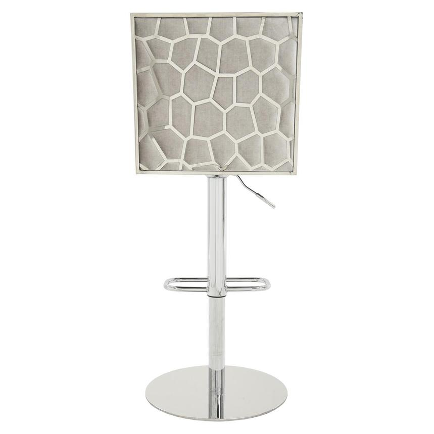 Allison Silver Gray Adjustable Stool  alternate image, 5 of 7 images.