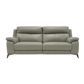 Barry Gray Leather Power Reclining Sofa