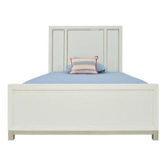 Metro White Twin Panel Bed