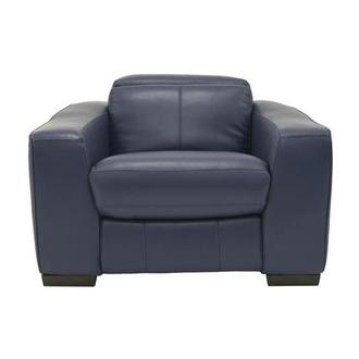 Jay Blue Power Motion Leather Recliner