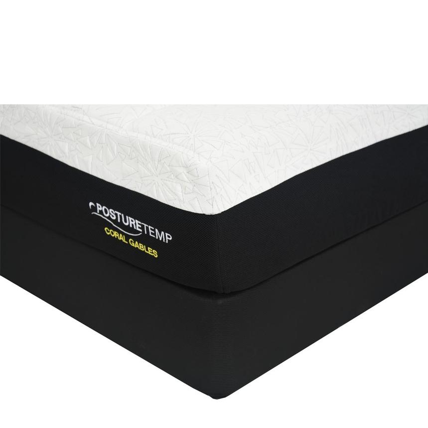 Coral Gables Queen Memory Foam Mattress w/Low Foundation by Sealy Posturepedic  main image, 1 of 4 images.