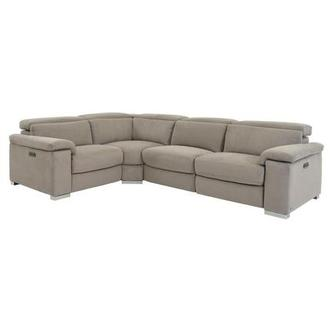 Karly Light Gray Power Reclining Sectional