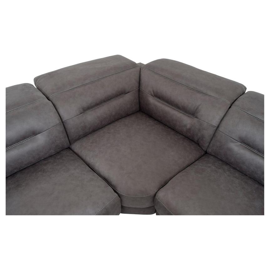 Claribel II Gray Power Reclining Sectional  alternate image, 5 of 9 images.