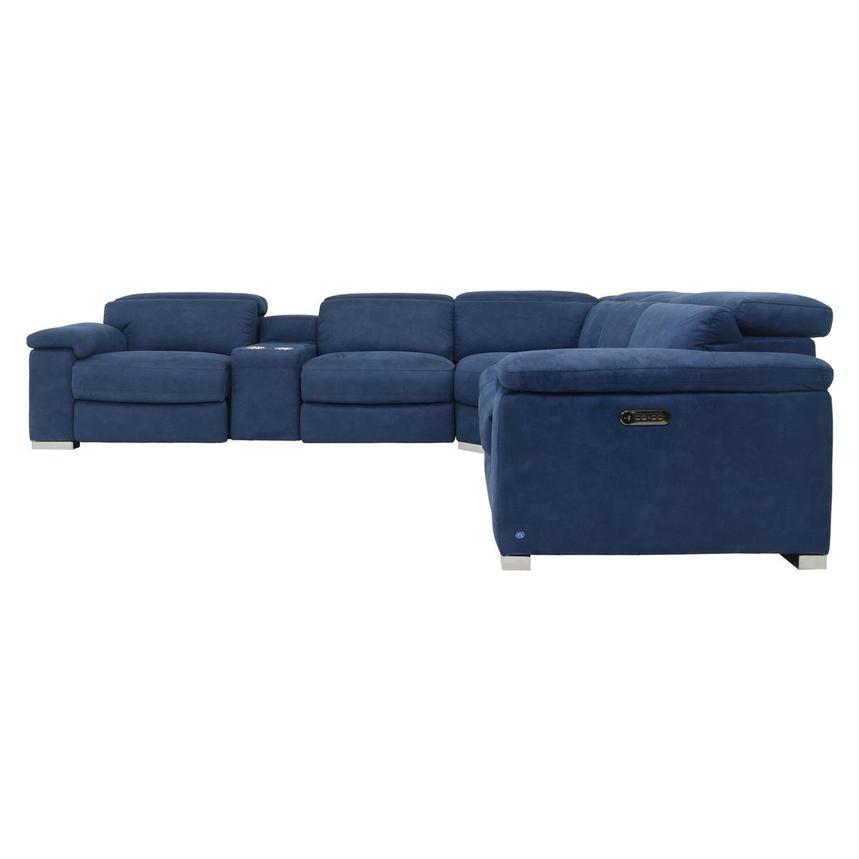 Karly Blue Power Reclining Sectional  alternate image, 4 of 9 images.