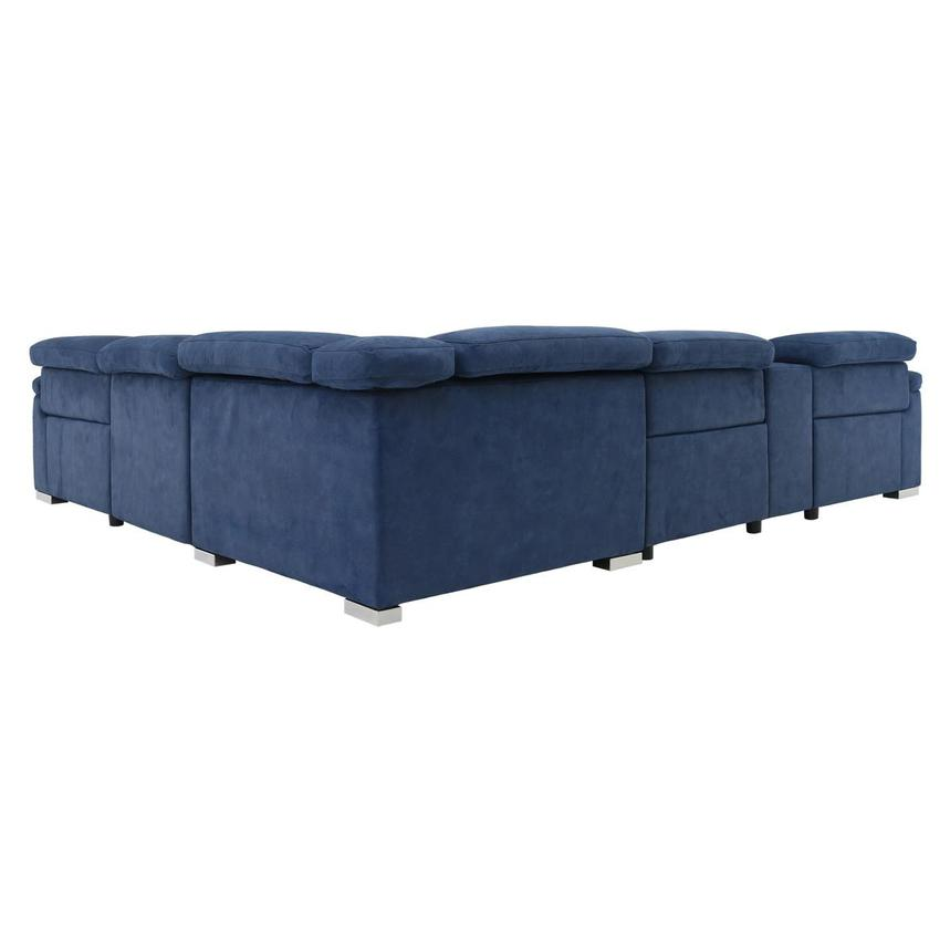 Karly Blue Power Motion Sofa w/Right & Left Recliners  alternate image, 4 of 8 images.