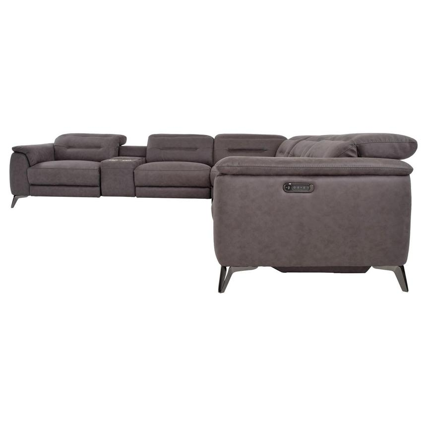 Claribel II Gray Power Reclining Sectional  alternate image, 3 of 9 images.