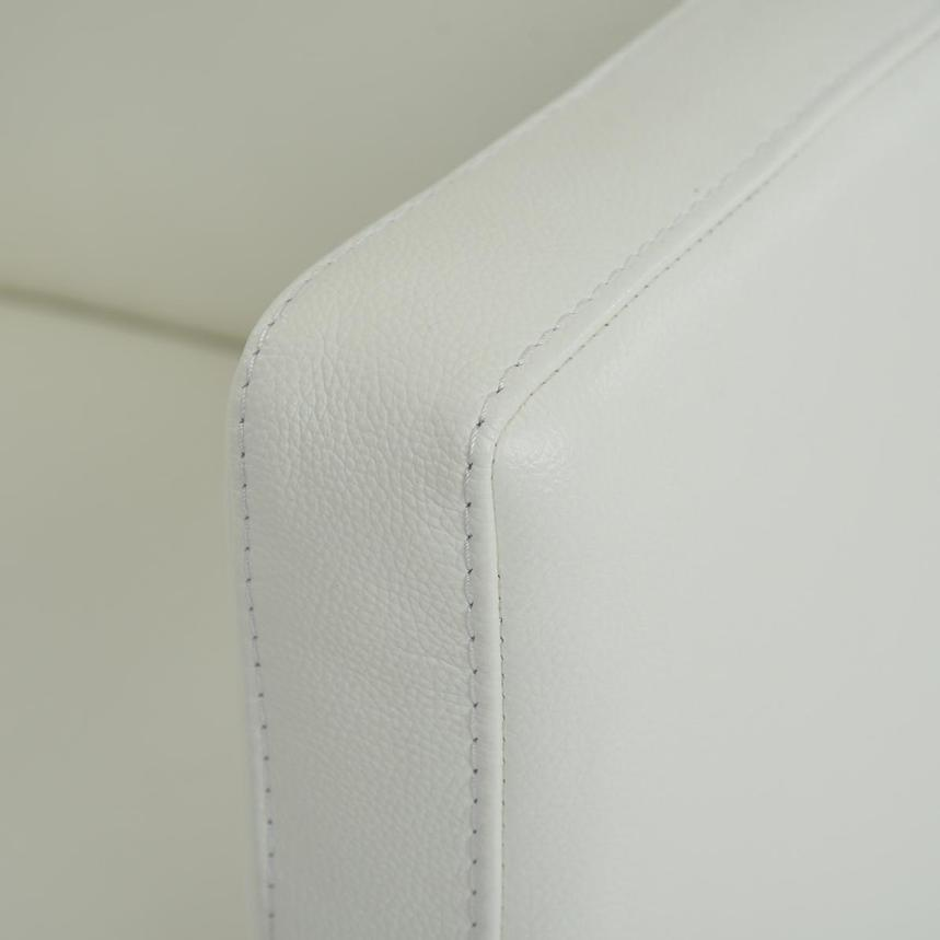Cute White Leather Swivel Chair  alternate image, 4 of 5 images.