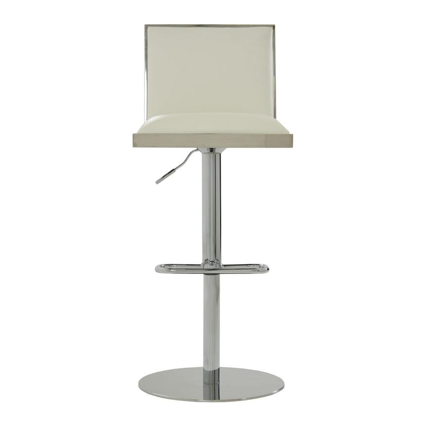 Allison White Adjustable Stool  main image, 1 of 9 images.