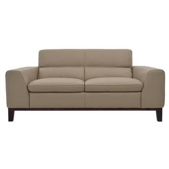 Milani Tan Leather Loveseat