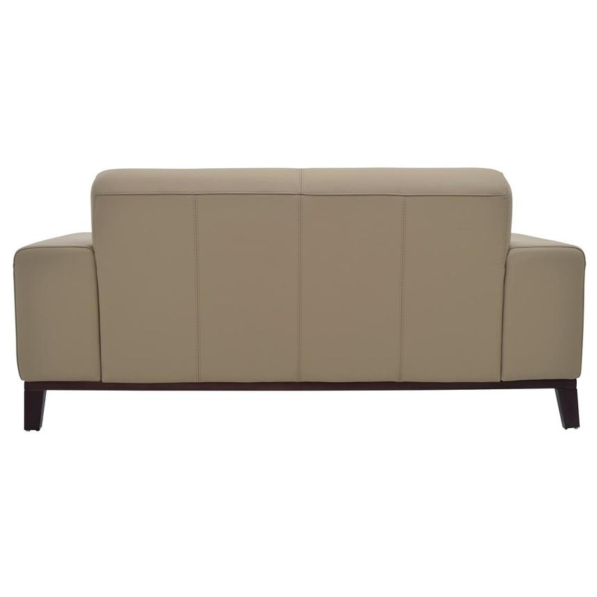 Milani Tan Leather Loveseat  alternate image, 4 of 6 images.