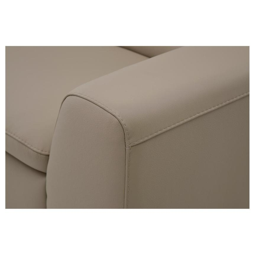 Milani Tan Leather Loveseat  alternate image, 5 of 8 images.