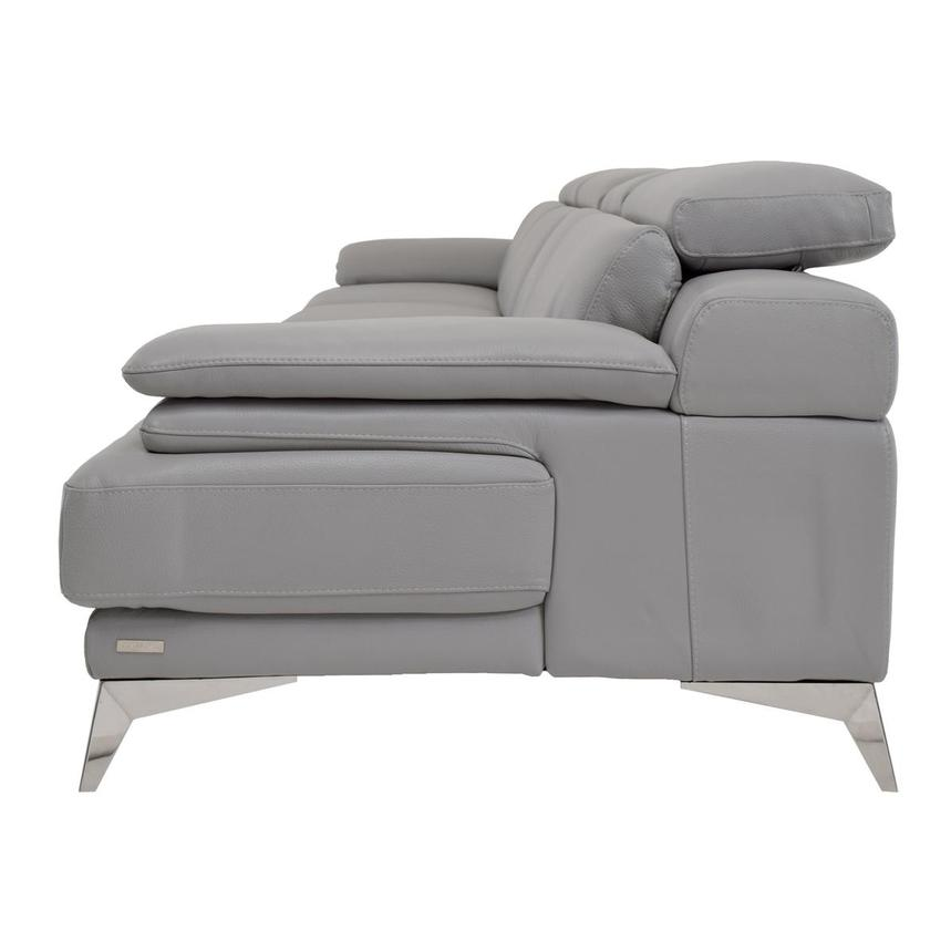 Idris Grey Oversized Leather Sofa  alternate image, 4 of 7 images.