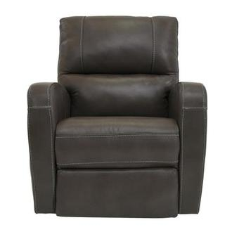 Keegan Gray Leather Power Recliner