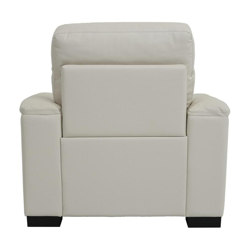 Bari Cream Power Motion Leather Recliner  alternate image, 5 of 7 images.