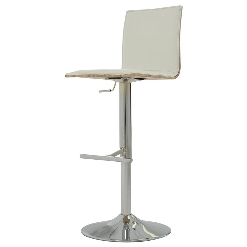 Solimar White Adjustable Stool  alternate image, 3 of 10 images.