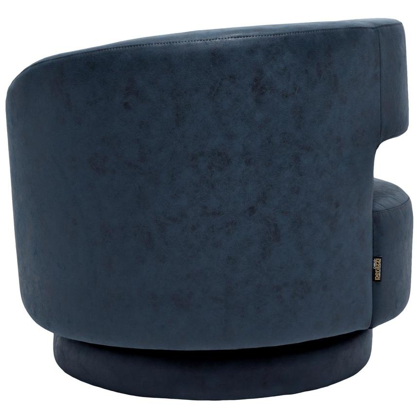 Okru Dark Blue Swivel Chair w/2 Pillows  alternate image, 5 of 10 images.