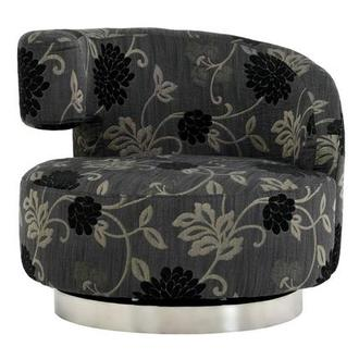 Okru Floral Print Swivel Chair